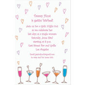 Lovey-Dovey Cocktails Custom Invitation