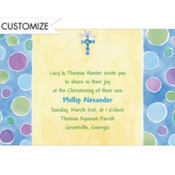 Charming Cross with Bow Custom Invitation