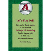 Arizona Diamondbacks Custom Invitation