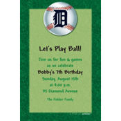 Detroit Tigers Custom Invitation