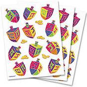 Prismatic Dreidel Stickers 3 Sheets