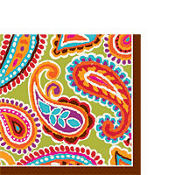 Bright Paisley Lunch Napkin 16ct