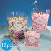 Candy Buffet Square Plastic Container Set 12pc