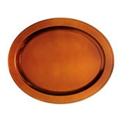 Elegant Fall Orange Oval Plastic Platter 19 3/4in x 15 1/2in