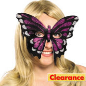 Iridescent Purple Butterfly Mask