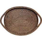Brown Bamboo Tray 20in x 14in