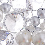 Clear Gem and Multi Pearl Scatter 7.5oz