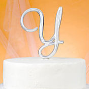 Monogram Y Wedding Cake Topper