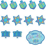Hanukkah Cutout Decorations 30ct