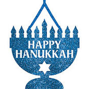 Hanukkah Hanging Glitter Sign 13in