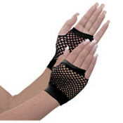 Short Black Fishnet Gloves