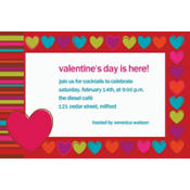 Hip Hearts Custom Valentines Day Invitation