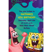 SpongeBob Classic Custom Invitation