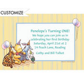 Pooh and Friends Birthday Party Custom Invitation