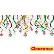 Holiday Swirl Hanging Decorations 30ct