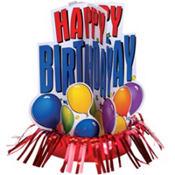 Birthday Fringe Centerpiece 13in