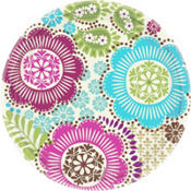 Fashion Floral Dinner Plates 8ct