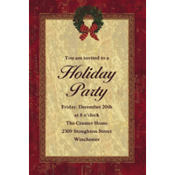 Rustic Christmas Custom Invitation
