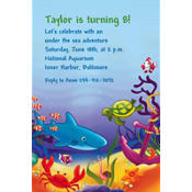 Deep Sea Fun Custom Invitation
