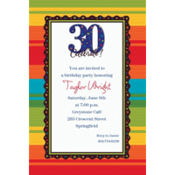 A Year to Celebrate 30 Custom Invitation