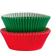 Red and Green Baking Cups 75ct