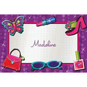 Glitzy Girl Custom Thank You Note
