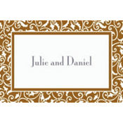 Gold Ornamental Scroll Custom Thank You Note