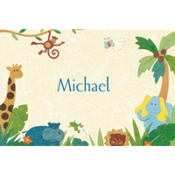 Cute Jungle Animals Custom Thank You Note