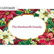 Poinsettias and Evergreens Custom Thank You Note