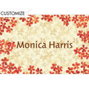 Taupe & Orange Bouquet Custom Thank You Note