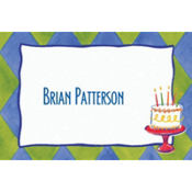 Cake on Diamond Pattern Custom Thank You Note