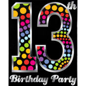 Happy 13th Birthday Invitations 8ct