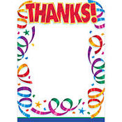 Party Streamers Thank You Notes 8ct