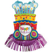 Dots and Stripes Fringe Centerpiece 13in