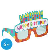 Dots and Stripes Happy Birthday Glasses