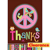 Hippie Chick Birthday Thank You Notes 8ct