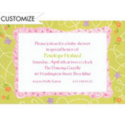 Flowers and Butterflies Custom Baby Shower Invitation