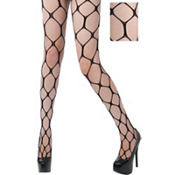 Adult Black Hexagon Pantyhose