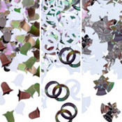 Silver Bells Metallic Confetti 1/2oz