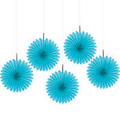 Caribbean Hanging Fans 6in 5ct