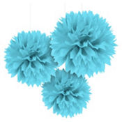 Caribbean Fluffy Decorations 16in 3ct