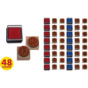 Boy Wood Stamps 48ct