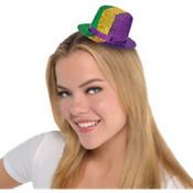 Mini Mardi Gras Top Hat