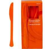 Orange Premium Plastic Knives 100ct