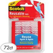 3M Reusable Tabs 72ct