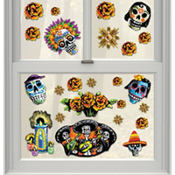 Day of the Dead Vinyl Window Decorations 23ct