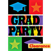 Bright Grad Graduation Invitations 8ct