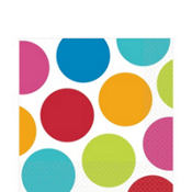 Cabana Polka Dot Lunch Napkins 16ct