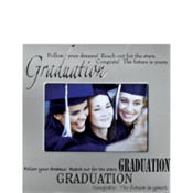 Silver Silkscreen Graduation Photo Frame 4in x 6in