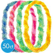 Two-Tone Fringe Poly Leis 36in 50ct